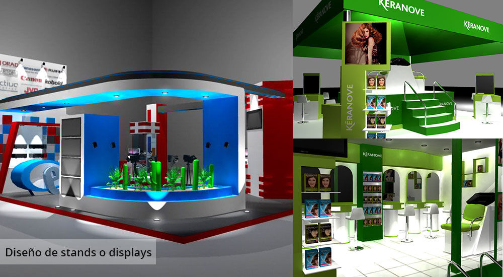 diseño de stands y displays